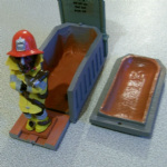 Deadstone valley dead Fireman Bill  in coffin